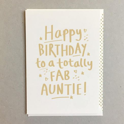 Swell Megan Claire Greetings Cards Fab Auntie Birthday Card Funny Birthday Cards Online Fluifree Goldxyz